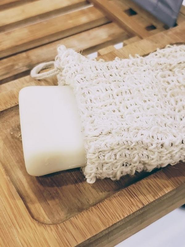 Pochette pour savon en sisal