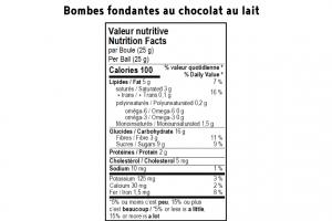 Bombe fondante pour chocolat chaud - Lait 1