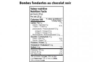 Bombe fondante pour chocolat chaud - Noir 2