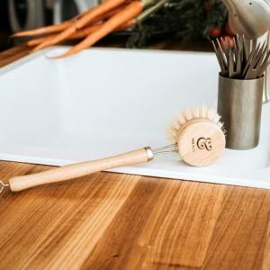 Brosse à tête rechargeable pour laver la vaisselle