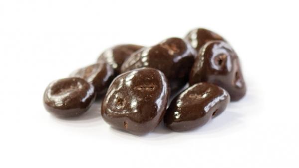 Canneberges enrobées – Chocolat noir 1