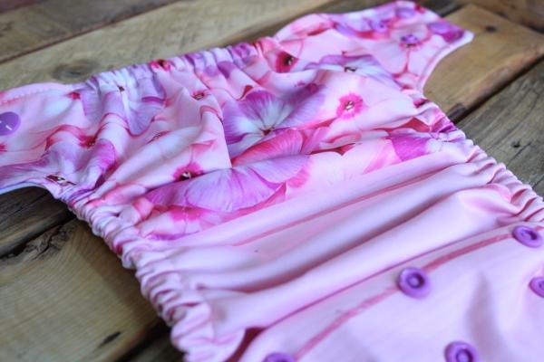 Couche lavable OS Lavande & Jonquille - Fleurs