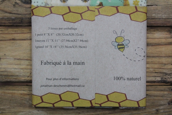 Emballage en cire d'abeille - Trio 1