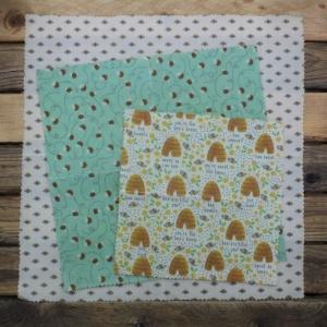 Emballage en cire d'abeille - Trio