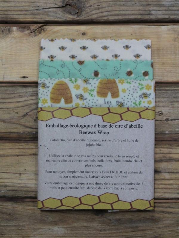 Emballage en cire d'abeille - Trio 4