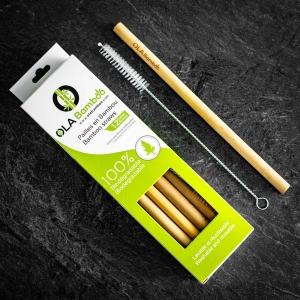 Pailles en bambou (Paquet de 6)