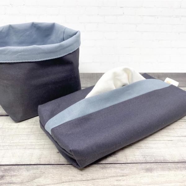 Pochette 4 mouchoirs - Verte & Blanche 2