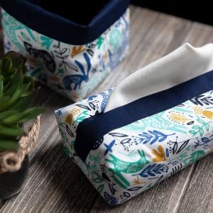 Pochette 4 mouchoirs - Verte & Blanche