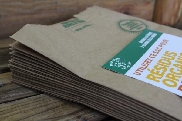 Sac à compost fibres naturelles - Petit 2