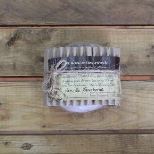 Savon exfoliant en laine d'alpagas - Vanille-framboise
