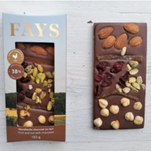 Tablette de chocolat mendiante - Lait 3
