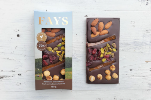 Tablette de chocolat mendiante - Lait