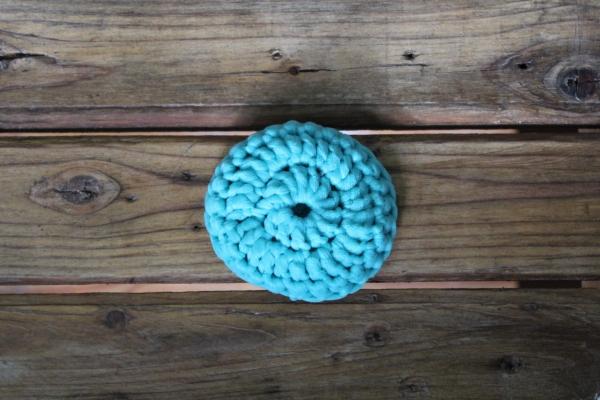 Tampon à récurer lavable - Turquoise 2